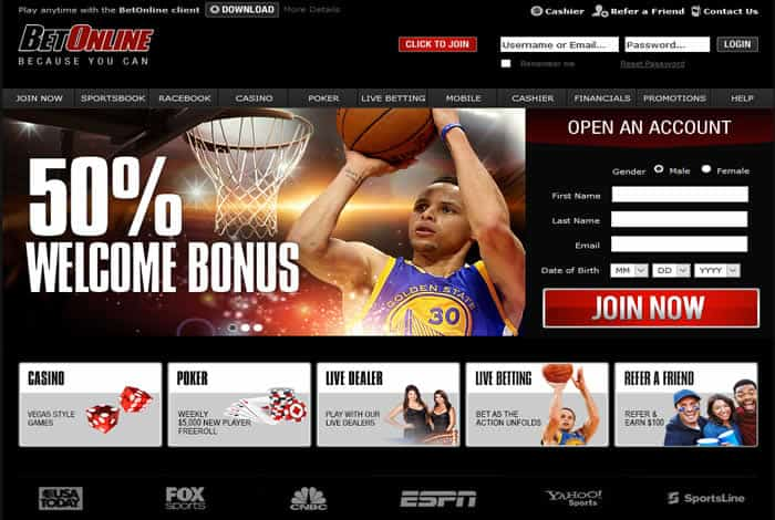 Betonline Sportsbook And Casino Screenshto